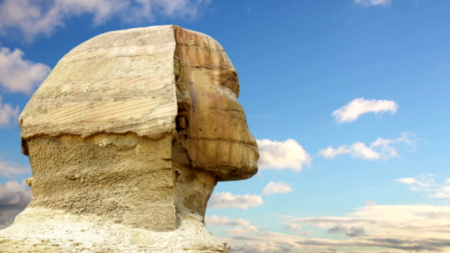 """Timelapse-Sphinx-Kopf-und-Wolken-Gizeh-Ã""""gypten-"""