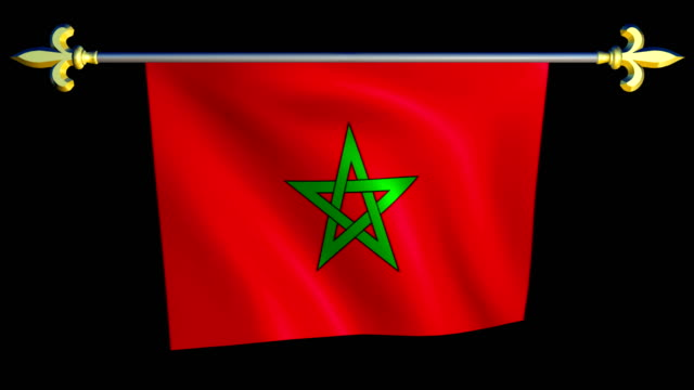 Large-Looping-Animated-Flag-of-Morocco