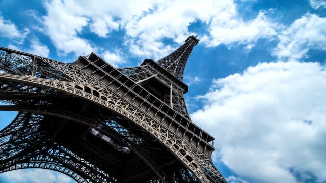 Eiffel-Turm-Zeitraffer-mit-Wolken-brewing-Sommer