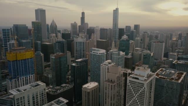 Chicago-Skyline---Aerial-View