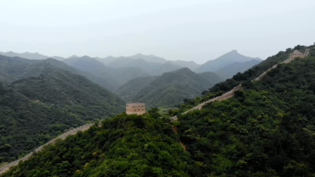 Aerial-view-of-Great-wall-of-China-Beijing-China-