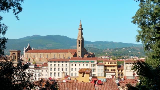 Beautiful-view-over-the-roof-of-Florence-(Tuscany)-city-center-and-the-stunning-architecture-of-its-religious-heritage-October-2018-