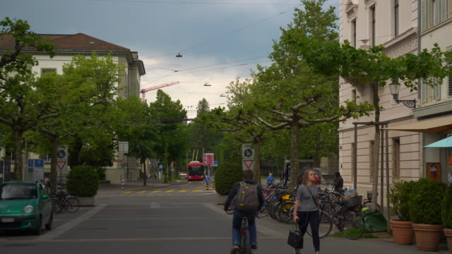 evening-time-winterthur-city-traffic-street-slow-motion-panorama-4k-switzerland