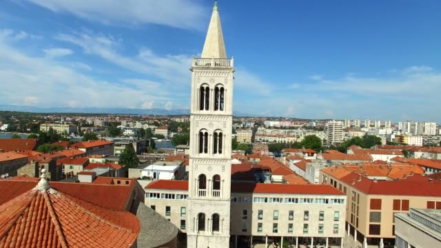 Tower-of-cathedral-of-St-Anastasia-in-Zadar-Croatia