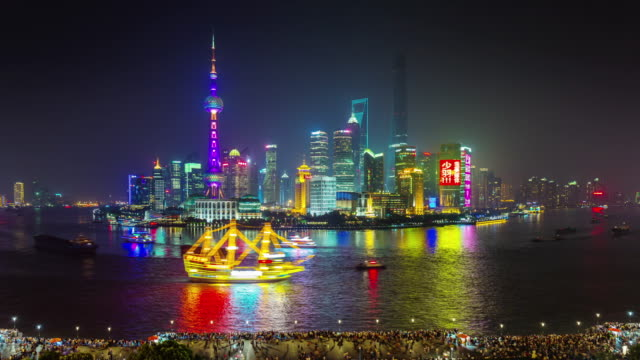beautiful-night-light-panoramic-crowded-bay-4k-time-lapse-from-shanghai-roof