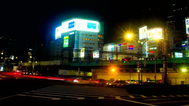 Resolución-de-hyper-lapso-4K-de-noche-cerca-de-la-estación-de-Seibu-shinjuku