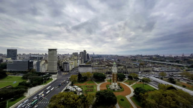 Buenos-Aires-Argentina-clock-tower-sunset-time-lapse