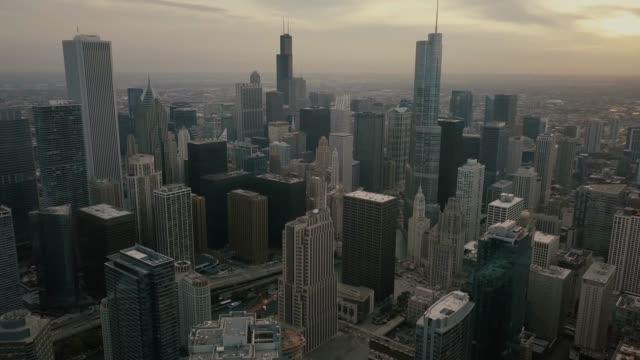 Skyline-von-Chicago---Luftbild