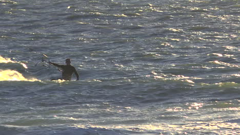A-wind-surfer-moves-fast-across-the-ocean