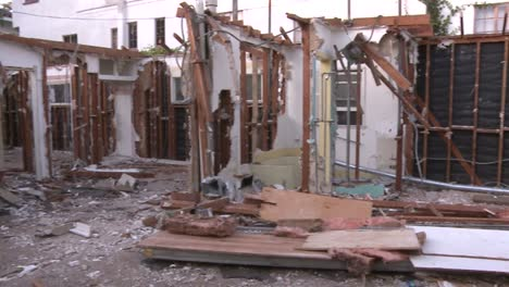 Pan-right-to-left-inside-a-house-in-the-process-of-being-demolished