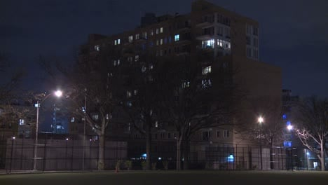 Exterior-of-a-building-in-Brooklyn-at-night