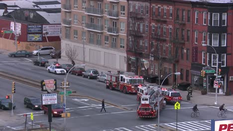 Firefighters-respond-to-an-emergency-in-Brooklyn