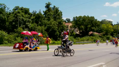 A-Shriner-s-parade-features-clowns-on-funny-cycles