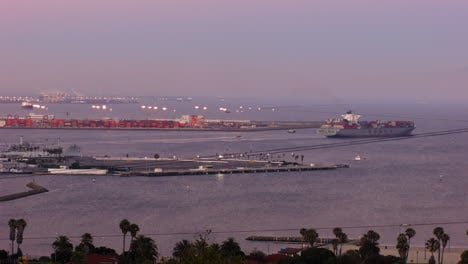 An-overview-of-San-Pedro-harbor-in-Los-Angeles-California