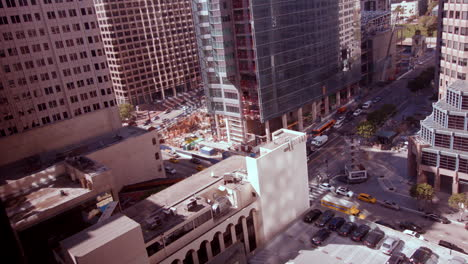 A-time-lapse-shot-of-traffic-in-downtown-Los-Angeles-California
