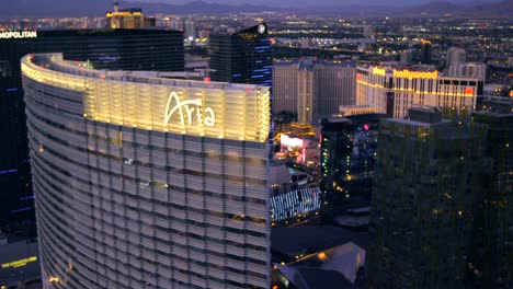 Aerial-view-of-the-Aria-and-The-Cosmopolitan-in-Las-Vegas-Nevada
