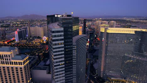 Aerial-view-of-the-Vdara-and-The-Cosmopolitan-in-Las-Vegas-Nevada