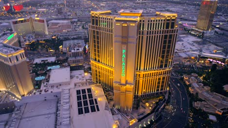 Aerial-view-of-the-Palazzo-in-Las-Vegas-Nevada