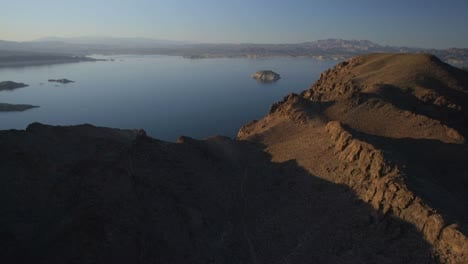Aerial-view-of-Lake-Mead-near-the-Hoover-Dam