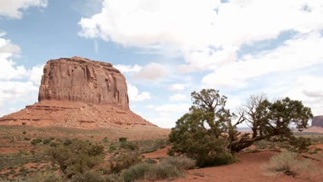 White-clouds-move-quickly-over-a-butte-in-Monument-Valley-s-Navajo-Tribal-Park