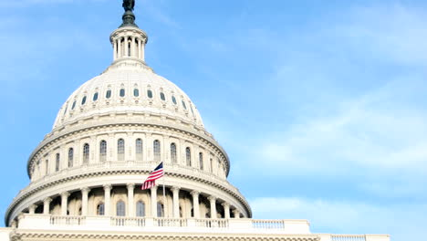 The-white-dome-of-the-United-States-Capitol-Building-contrasts-against-a-blue-sky