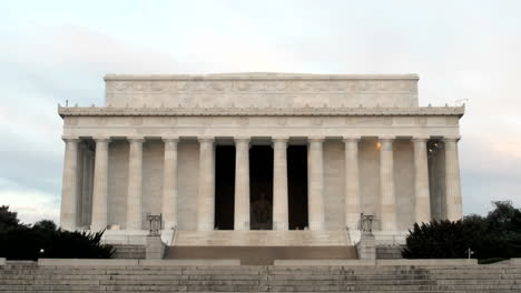 A-steady-trickle-of-tourists-visits-the-Lincoln-Memorial-in-Washington-DC