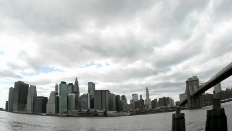 Thick-white-clouds-pass-over-the-New-York-City-skyline