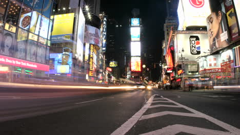 An-accelerated-view-of-New-York-s-Times-Square-results-in-a-frenzy-of-flashing-lights