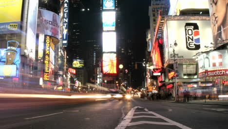Shot-slowly-pans-left-in-an-accelerated-shot-of-the-frenzy-of-flashing-and-streaking-lights-in-New-York\-s-Times-Square