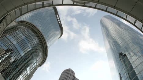 The-Houston-Oil-Company-Buildings-viewed-from-beneath-an-arch