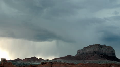 Lightning-flashes-from-storm-clouds-over-Goblin-Valley-State-Park