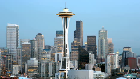 The-Seattle-Space-Needle-stands-at-the-center-of-this-time-lapse-shot-of-Seattle-s-skyline