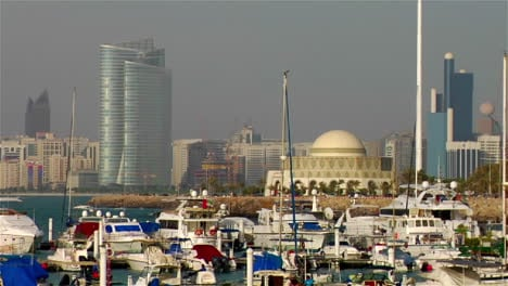A-harbor-in-Abu-Dhabi-in-the-United-Arab-Emirates-skyline-background-1