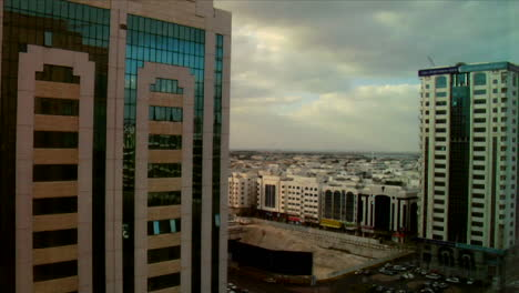 Time-lapse-of-modern-buildings-and-skyscrapers-in-Abu-Dhabi-in-the-United-Arab-Emirates