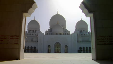Tilt-down-to-reveal-the-beautiful-Sheikh-Zayed-Mosque-in-Abu-Dhabi-United-Arab-Emirates