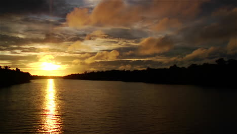 A-magnificent-sunset-along-the-Amazon-River-in-Brazil