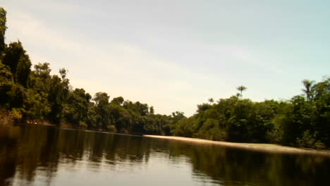Time-lapse-shot-of-the-sun-setting-behind-the-Amazon-River-in-Brazil-1