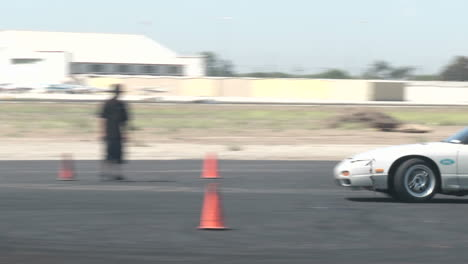 A-Driver-Does-Figure-Eights-As-It-Practices-Drifting-At-Camarillo-Airport