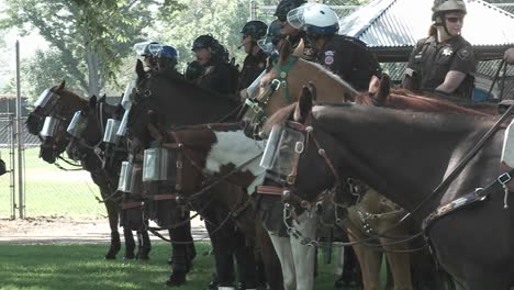 Riot-Police-On-Horseback-In-Denver-Colorado-During-The-2008-Democratic-National-Convention