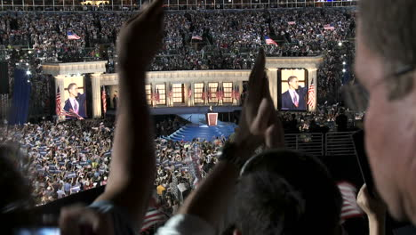 Presidential-Nominee-Barack-Obama-Waves-To-A-Packed-Investco-Field-At-The-End-Of-The-2008-Democratic-National-Convention-In-Denver-Colorado