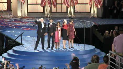 Presidential-Nominee-Barack-Obama-And-His-Vice-Presidential-Pick-Joe-Biden-With-Their-Family\-S-Wave-To-A-Packed-Investco-Field-At-The-End-Of-The-2008-Democratic-National-Convention-In-Denver-Colorado