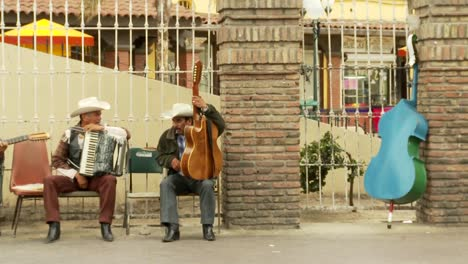 Musicians-Chat-In-Downtown-Tijuana-Mexico-1