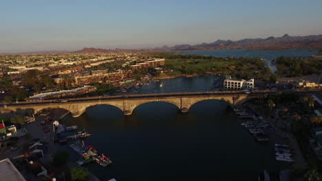 Aerial-Over-London-Bridge-In-Lake-Havasu-Arizona