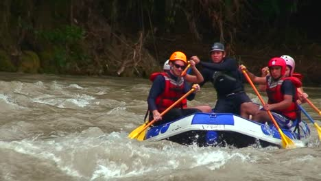 White-water-rafting-on-a-river-in-Costa-Rica