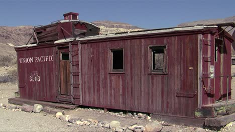 An-old-abandoned-caboose-is-a-home-in-Death-Valley-National-Park