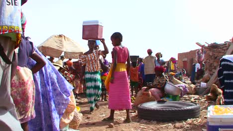 A-crowded-and-busy-public-market-in-Mali-Africa
