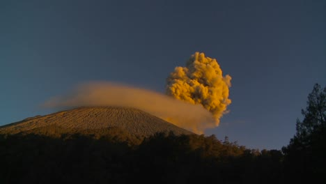A-large-volcano-erupts-in-a-cloud-of-smoke-and-ash