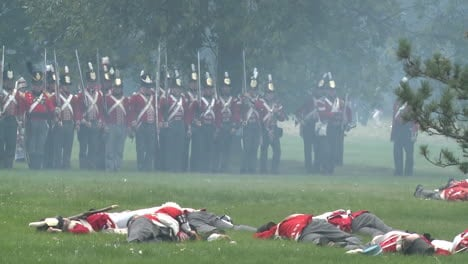 The-dead-lie-on-the-battlefield-in-this-television-style-reenactment-of-the-War-of-1812