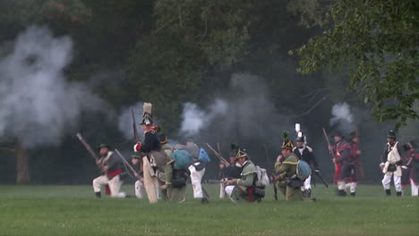 The-dead-lie-on-the-battlefield-while-others-fight-in-this-television-style-reenactment-of-the-War-of-1812