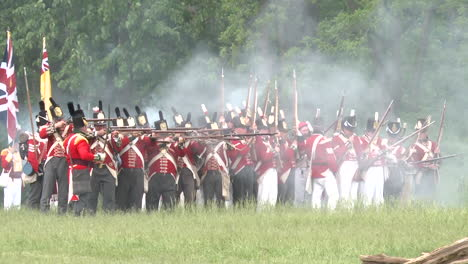 The-dead-lie-on-the-battlefield-while-others-fight-in-this-television-style-reenactment-of-the-War-of-1812-2